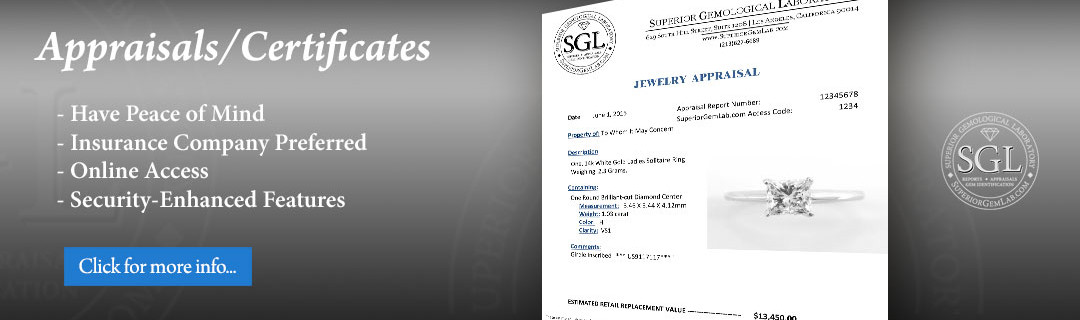 Jewelry Certificates